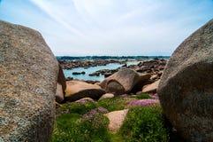 Die Küste von Bretagne lizenzfreie stockfotos