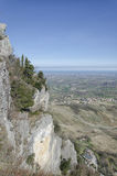 Die Küste von der Spitze San Marino Lizenzfreie Stockbilder