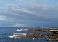 Die Küste von EL Cotillo an der Westküste von Fuerteventura Stockfotografie