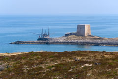 Die Küste von Gargano (Apulia, Italien) am Sommer Lizenzfreie Stockfotografie