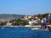 Die Küste von Herceg Novi in Montenegro Lizenzfreie Stockfotos