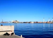 Die Küste von Kopenhagen Lizenzfreies Stockbild