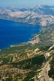 Die Küste von Kroatien lizenzfreies stockbild