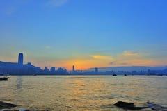 Die Küste von Lei Yue Mun stockbilder