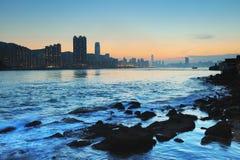 Die Küste von Lei Yue Mun stockfoto