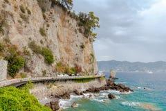 Die Küste von Ligurien Lizenzfreie Stockbilder