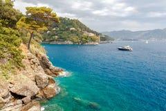 Die Küste von Ligurien Lizenzfreies Stockfoto