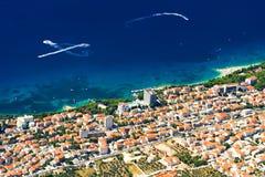 Die Küste von Makarska stockbilder