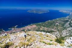 Die Küste von Makarska lizenzfreies stockbild