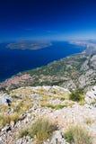 Die Küste von Makarska Riviera lizenzfreies stockbild