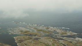 Die Küste von Norwegen stock footage