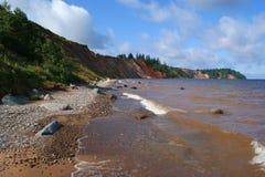 Die Küste von Onego See Stockfotografie