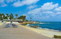 Die Küste von Paphos Stockfotos