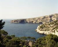 Die Küste von Südfrankreich Stockbilder