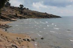 Die Küste von Taquille-Insel stockbild