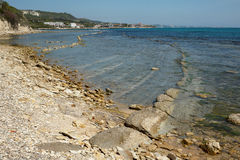 Die Küstenlinie von Balchik Tuzla Tuzlata, Bulgarien Stockfoto