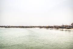 Die Küstenlinie von Jamestown, Accra, Ghana Lizenzfreies Stockfoto