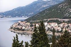 Die Küstenlinie von Kroatien nahe Dubrovnic in Kroatien Europa ist es eins der herrlichsten Fremdenverkehrsorts vom Mittelmeer Stockfotos