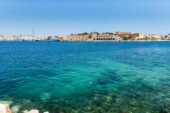 Die Küstenlinie von Valletta Lizenzfreies Stockfoto