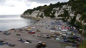 Die Küstenstadt des Bieres in Devon England Stockfotografie