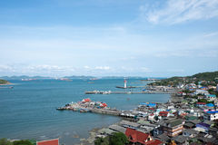 Die Küstenstadt des Si Chang Lizenzfreies Stockbild