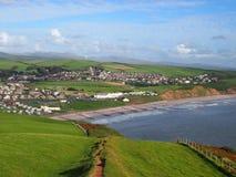 Die Küstenstadt von St.-Bienen, Cumbria, Großbritannien Stockfotografie