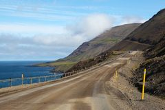 Die Küstenstraße in Island stockfotografie