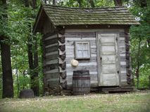 Die Kabine im Holz Lizenzfreies Stockfoto