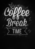 Die Kaffeeabschaltzeit lizenzfreie stockfotos