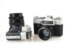 Die Kamera in der Art von einem Retro- Lizenzfreies Stockfoto