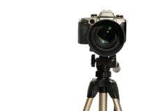 Die Kamera mit dem großen Objektiv Lizenzfreies Stockbild