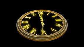 Die Kamera rund um die Uhr einkreisen, die Mitternacht zeigt stock footage