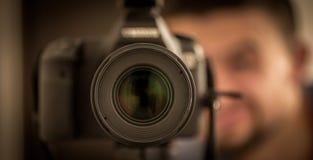 die Kameranahaufnahme, gebrochene Linsen lizenzfreies stockfoto