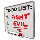 Die Kampf-schlechten Wörter, zum der Liste zu tun schützen sicheres verbessern Sicherheit stock abbildung
