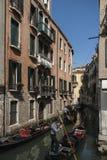 Die Kanäle von Venedig Stockfotografie