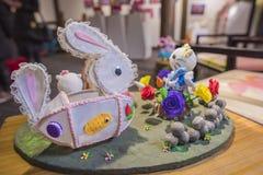 Die Kaninchenlaternen Lizenzfreie Stockbilder
