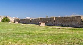 Die Kanonen von Napoleons Armee in Akko, Israel Stockbild