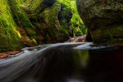 Die Kanzel des Finnich-Schlucht-alias Teufels nahe Loch Lomond, Schottland lizenzfreies stockfoto