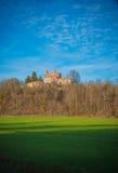 Die Kapelle Sans Galgano in Montesiepi, Toskana Lizenzfreie Stockfotografie
