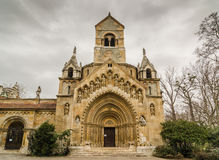 Die Kapelle von Jak in Vajdahunyad-Schloss Budapest, Ungarn Stockfotos