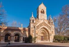 Die Kapelle von Jak in Vajdahunyad-Schloss ist ein arbeitendes katholisches chuch, gelegen in Budapest Stockbild