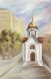 Die Kapelle zu Ehren heiligen Nikolay Lizenzfreie Stockbilder