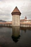 Die Kapellen-Brücke in Luzern-Luzerne, die Schweiz Lizenzfreies Stockbild