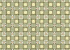 Die karierte Leuchte deckt Muster mit Ziegeln lizenzfreies stockbild