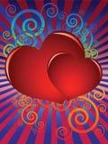 Die Karte auf Valentinstag Stockbild