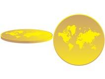 Die Karte der Welt dargestellt Lizenzfreie Stockfotografie