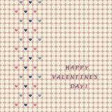 Die Karte des Valentinsgrußes Stockfoto