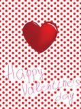 Die Karte des Valentinsgrußes Stockbild