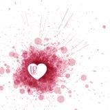 Die Karte des Vektor-glücklichen Valentinsgrußes lizenzfreie abbildung