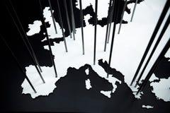 Die Karte von Europa Stockfotos